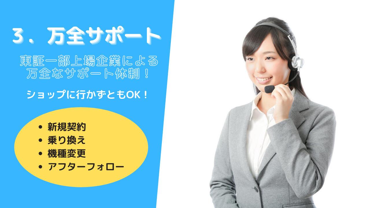東証一部上場企業による万全サポート体制