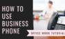 【保留・転送ボタンの使い方・かけ方】オフィス電話・ビジネスフォンの基本知識